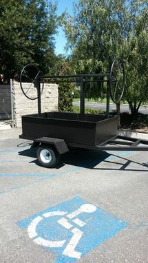 Custom Made Single Axle Santa Maria Trailer Grill