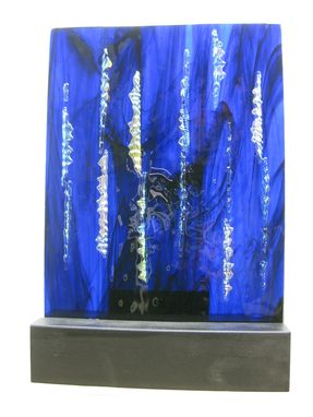 Custom Made Custom Three Dimensional Art Glass Sculpture With Dichroic Glass