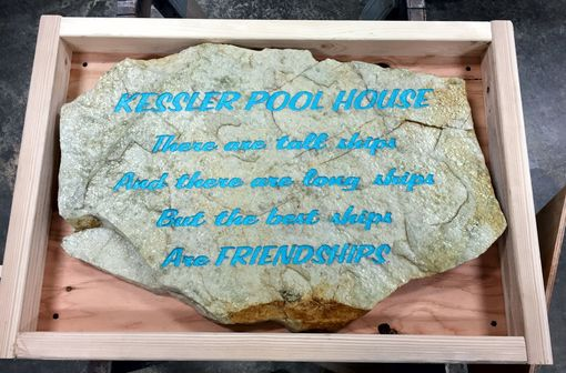 Custom Made Sandblasted Stone, Large