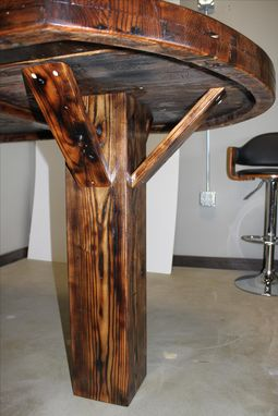 Custom Made Reclaimed Industrial Conference Table - Reclaimed Oak