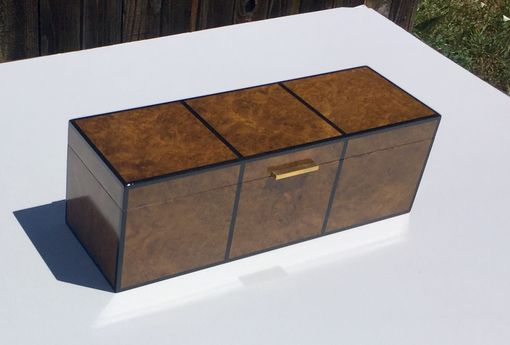 Custom Made Burl And Shagreen Jewelry/Watch Box