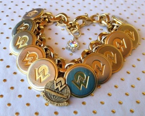 Custom Made America West Airlines Uniform Buttons Bracelet