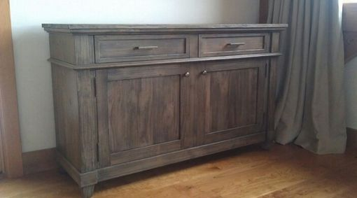 Custom Made Media Console Weathered Grey