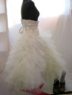 Custom Made Ivory Tulle Bridal Skirt Knee Length