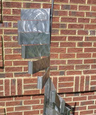 Custom Made Outdoor Abstract Metal Windmill Rotating Scultpure, Yard Art Or Interior Art