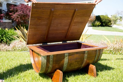 Custom Made Wine Barrel Coffee Table