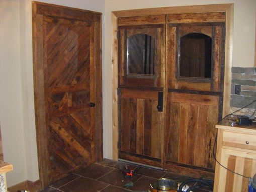 Custom Made Barn Wood Front Doors And Interior Door