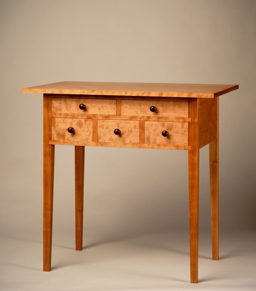 Custom shaker 5 drawer hall table by aedanworks for Shaker furniture