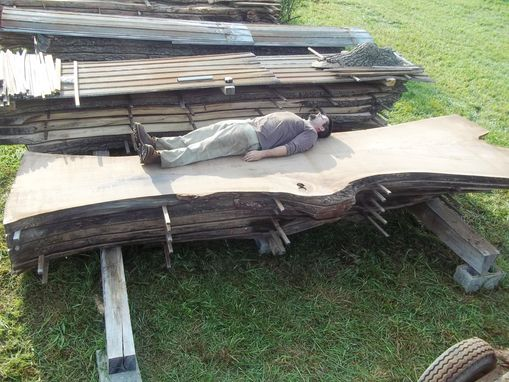 "Custom Made Black Walnut Live Edge Slabs Very Rare 55"" Wide Single Slabs"