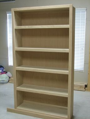 Custom Made Oak Book Shelves