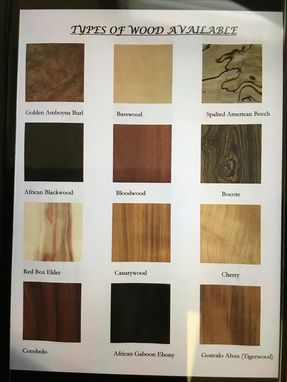 Custom Made Examples Of Different Types Of Wood Available