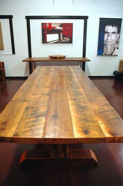 reclaimed timber frame trestle dining table farm table