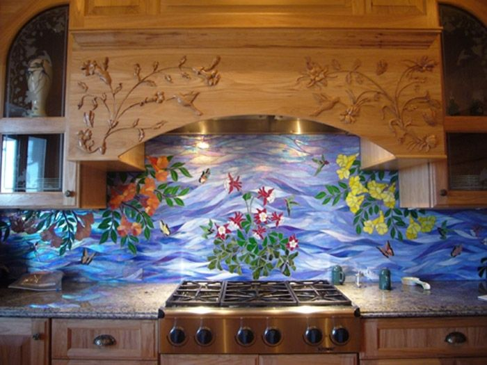 Hand Made Kitchen Range Hood Island Carving By Wood