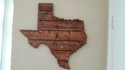 Custom Made State Map Wall Art With Clock