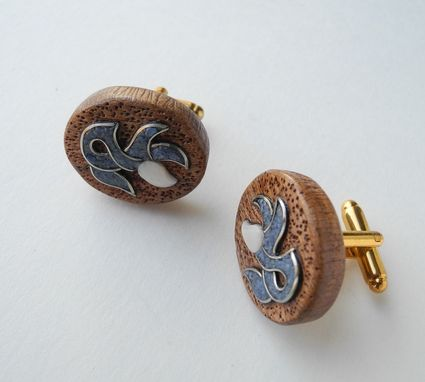 Custom Made Wooden Inlaid Cufflinks