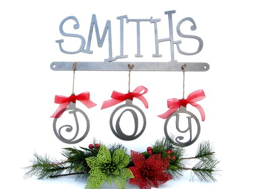 Custom Made Custom Christmas Family Last Name Metal Sign