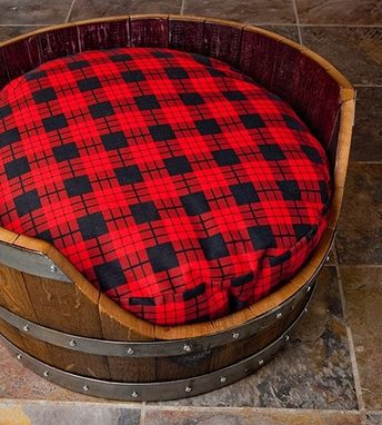 Custom Made Napa Wine Barrel Dog Bed