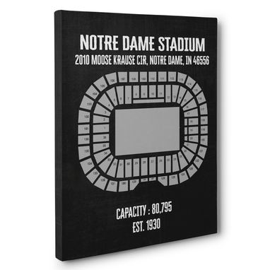 Custom Made Notre Dame Stadium Canvas Wall Art – Multiple Colors