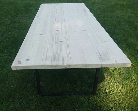 Custom Made Rustic Industrial Modern Mid Century Farm Farmhouse Dining Table