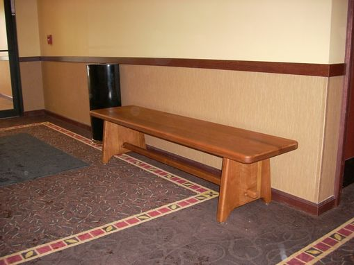 Custom Made Solid Cherry Bench