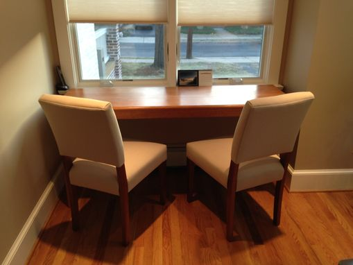 Custom Made Narrow Cherry Dining Room Table
