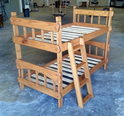 Custom Made Heirloom Twin Over Twin Bunk Bed