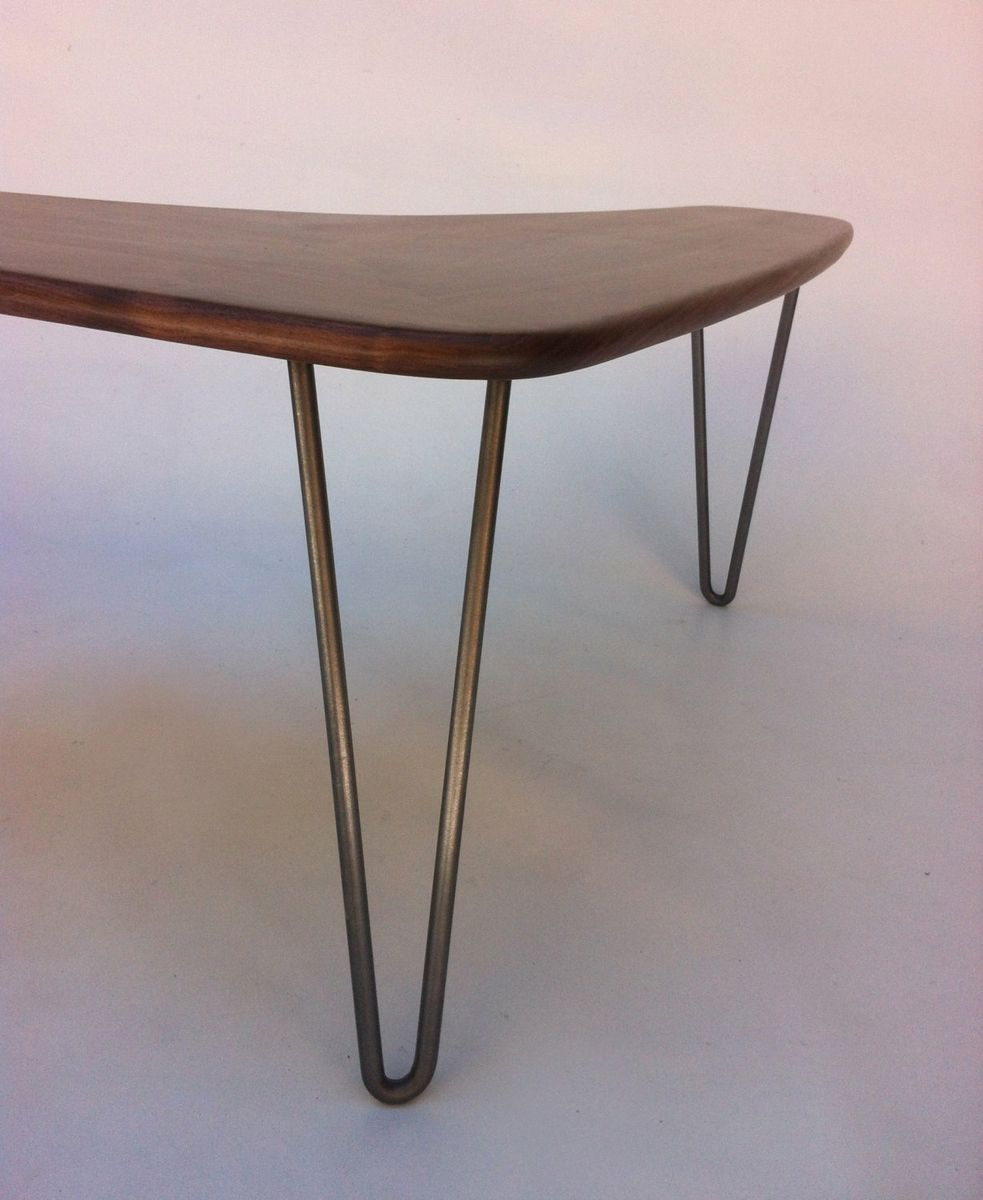 Buy a custom made boomerang coffee table w hairpin legs made of buy a custom made boomerang coffee table w hairpin legs made of solid walnut in mid century modern made to order from studio1212 custommade geotapseo Choice Image
