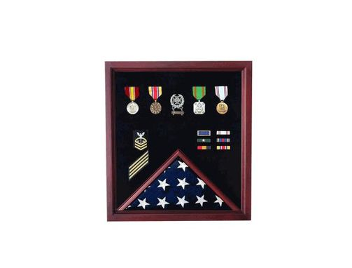 Custom Made Extra Large Flag Plus Medal Display Case For 5ftx9.5ft Flag
