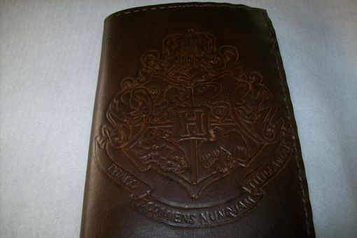Custom Made Leather Kindle Cover With Hogwarts Crest