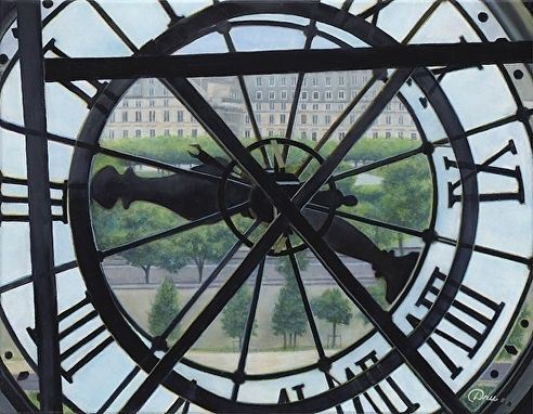 Custom Made Two Forty At The Orsay (Paris, France) Oil Painting By Dru Marie Robert - (21