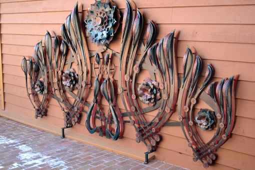 "Custom Made ""Fire Garden"" Custom Made Wall Sculpture"