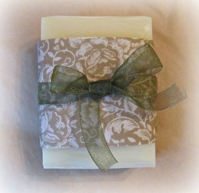 Custom Made Hand Made Soap, Citrus Infusion Scented, One 3-4 Ounce Bar,Wrapped With Ribbon Bow,Decor,Functional