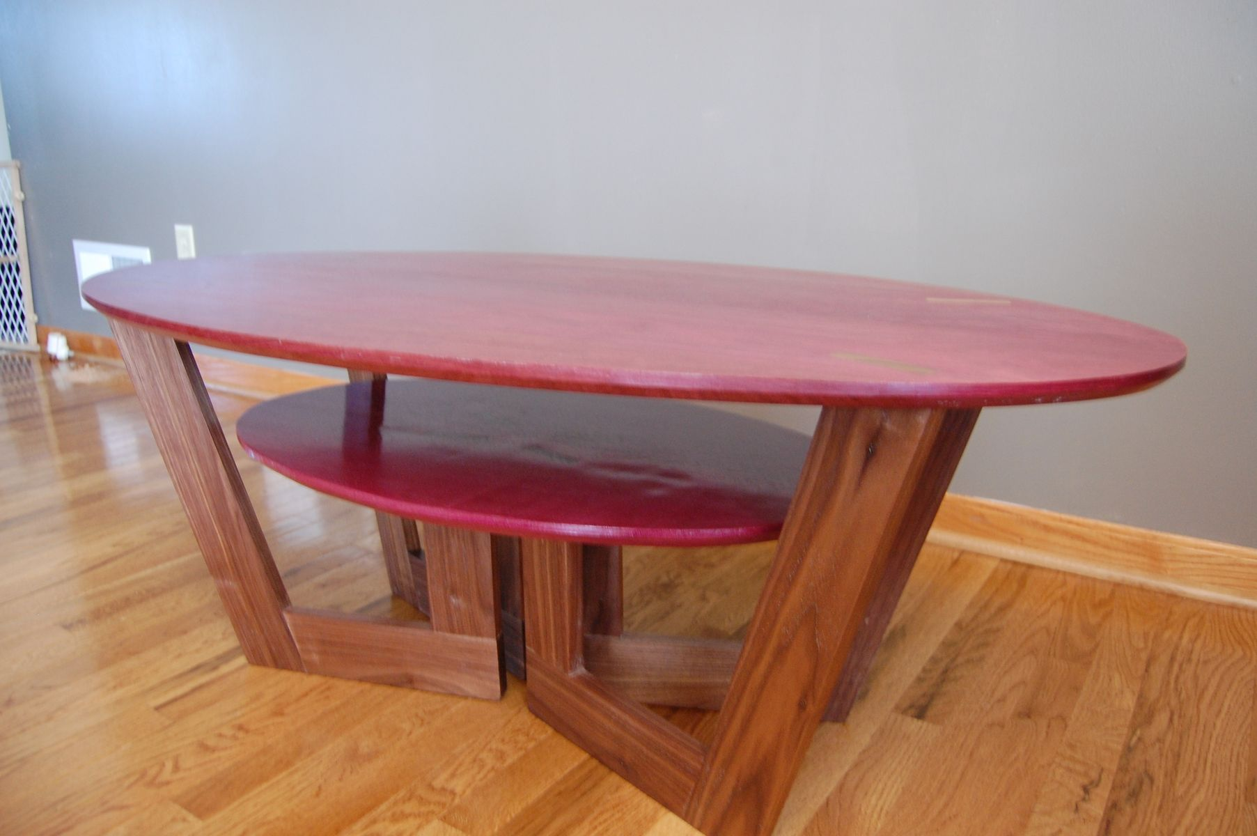 Custom Made Purpleheart Coffee Table. Custom Purpleheart Coffee Table by Clark Mcgill Furniture