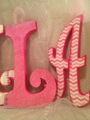 Custom Made Custom Wood Letter Set--6 Letters (Font--Curly--All Uppercase)