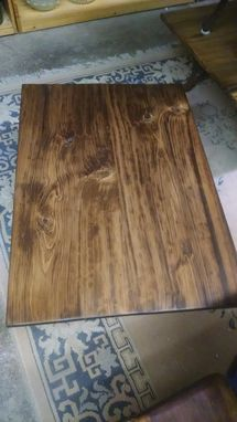 Custom Made A Repurposed Coffee Table From Salvaged Cypress, Made On A Vintage Rca Victor Tv Or Radio Stand!