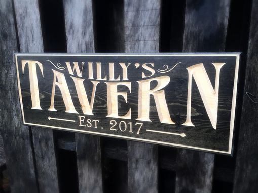Custom Made Personalized Tavern Sign With Established Date