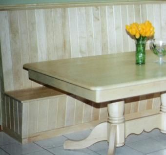Custom Made Maple Table And Corner Booth