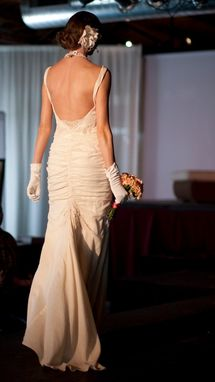 Custom Made Willow Ruched Sheath Eco Wedding Gown