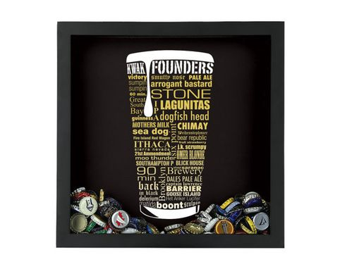 Custom Made Craft Beer Typography Beer Cap Shadow Box