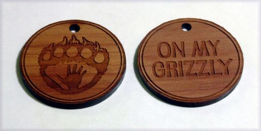 Custom Made Custom Double Sided Wood Charms Laser Engraved
