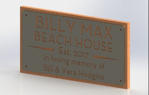 Custom Made Wood Mounted Metal Signs