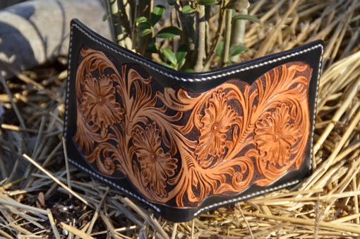 Custom Made All Hand Made Carved Leather Wallet