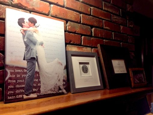 Custom Made Wedding Photo & Lyrics On Canvas Art