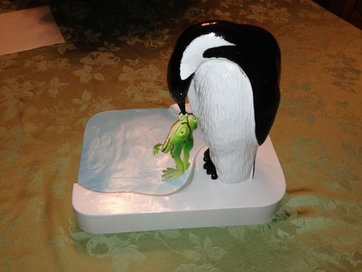 Custom Made Frog And Penguin Backward Kiss