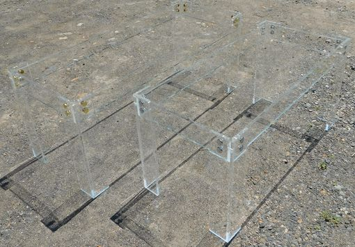 "Custom Made Acrylic ""Button Line"" Dining Table - Hand Crafted, Custom Made To Order"