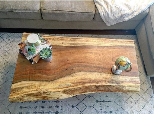 Custom Made Monkey Pod Live Edge Coffee Table