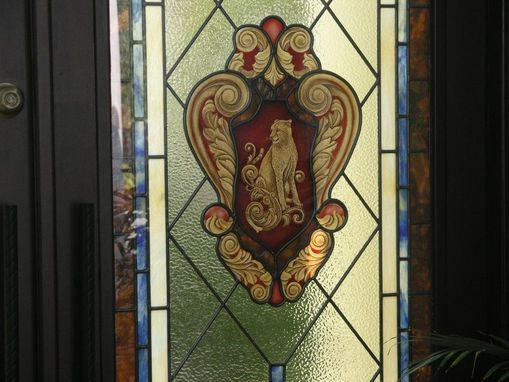 Custom Made Stained Glass Court Yard Doors For Beauty And Hurricane Impact Resistance