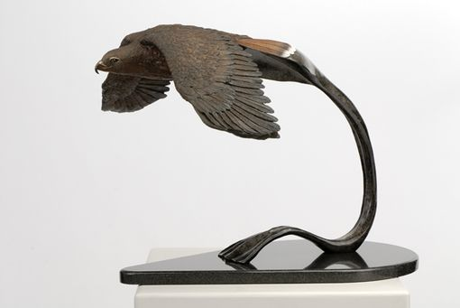 Custom Made Lifesized Redtail Hawk Bronze Sculpture