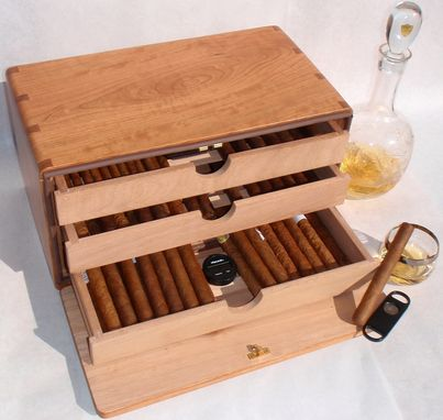Custom Made Small Humidor With Drawers