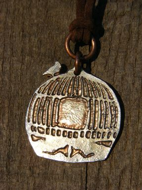 Custom Made Birdcage Necklace Made From A U.S. Quarter. Acid Etched Coin Pendant.